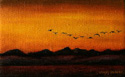 Autumn Sunset painted by Wendy Palmer.<br>